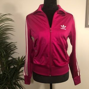 Hot Pink & White Adidas Athletic Jacket